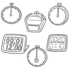vector set of stop watch