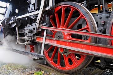 Steam locomotive, historic steam locomotive driving, Brno, Mikulov, Czech republic