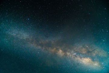 Clearly milky way on night sky