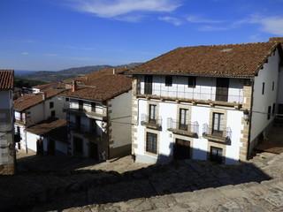 Candelario, localidad española de la provincia de Salamanca, en la comunidad autónoma de Castilla y León. Se integra dentro de la comarca de la Sierra de Béjar