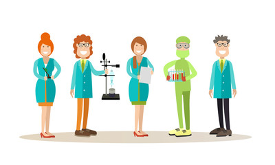 Science people concept vector illustration in flat style
