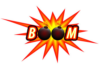 bomb and bomb logo