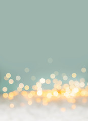 Abstract christmas bokeh background with sparkling lights