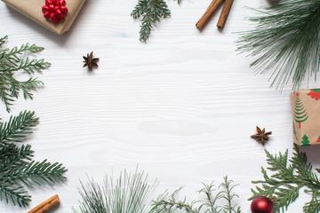 Christmas background flat layout
