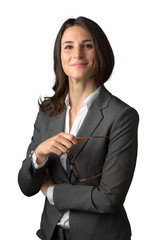 Casual relaxed fun loose portrait of a business woman legal representative employee staff member