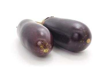 Two blue eggplant.