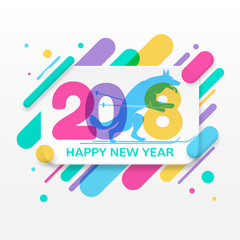 2018 Happy New Year greeting card
