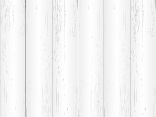 Wood texture in white color. Vector illustration.