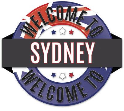 welcome to sydney australia flag icon