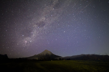 mt taranaki at night