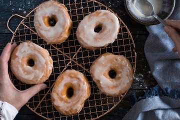 Making Glazed Donuts