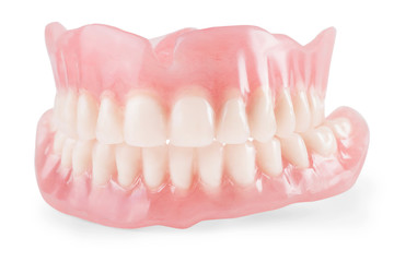 False teeth isolated