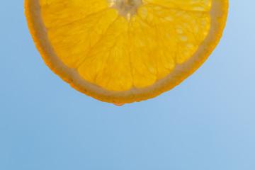 Orange slice, macro