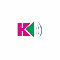 H Letter Sound Logo Vector