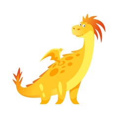 cute yellow dragon