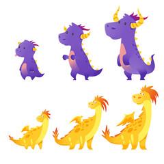 set of cute dragon