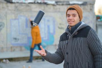 portrait of a grafitti artist