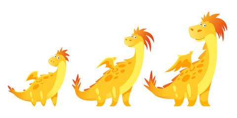 cute yellow dragon