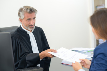 giving the case file