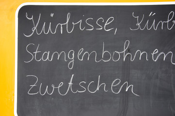 Kürbisse, Stangenbohnen Zwetschgen - Symbolfoto