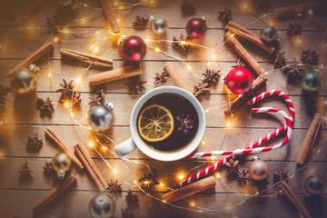 Christmas lollipop and tea