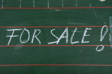 For Sale - Symbolfoto