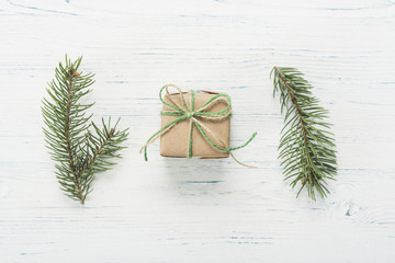 Small beautifully wrapped gift and lavender