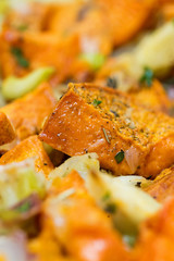 Roasted Sweet Potatoes Closeup