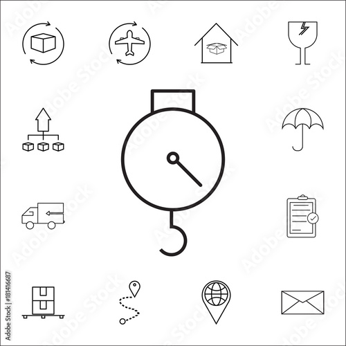 Spring Scale Icon Set Of Logistic Icons Premium Quality Graphic