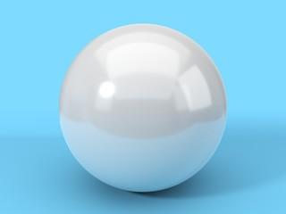 single pearl. 3d illustration