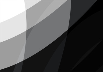 Black and white wave abstract background vector