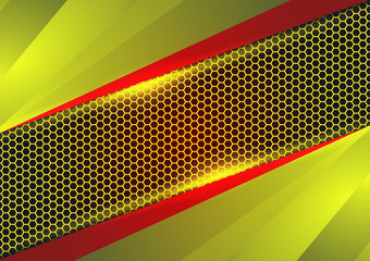 Red and yellow geometric and light abstract vector background