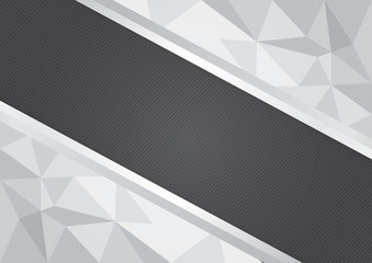 Gray polygon vector abstract background with copy space