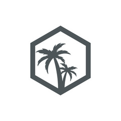 palm tree rectangular