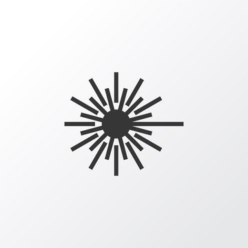Light Icon Symbol. Premium Quality Isolated Laser Beam Element In Trendy Style.