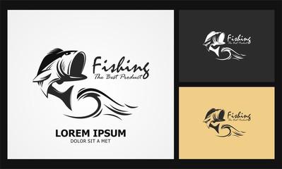 fishing icon product equipment logo