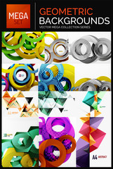 Mega collection of geometric business posters, flyers