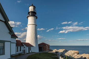 Portland, Maine, Lighthouse in Cape Elizabeth, USA.