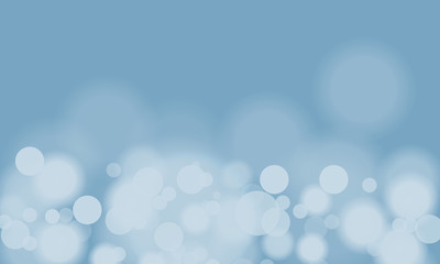 Vector abstract blue sky background with blur bokeh light effect.