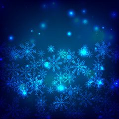Abstract background. Snowflakes. Set. Different. Snow. Winter. New Year's and Christmas.