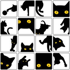 可愛いネコをパターンに