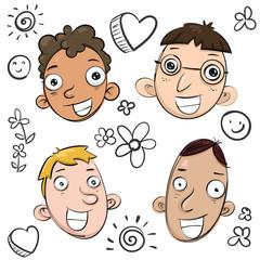 cartoon smile faces