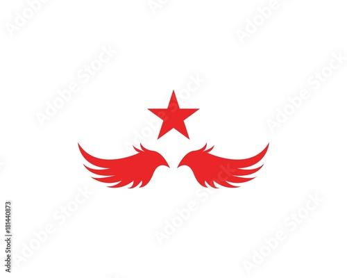 star bird logo design template fotolia com の ストック画像と