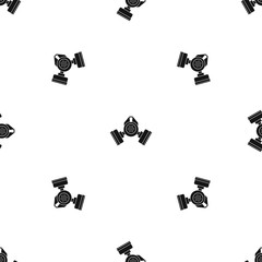Gas mask pattern seamless black