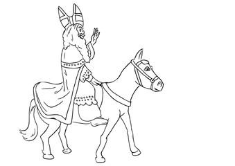 Sinterklaas op zijn paart