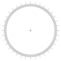 blank protractor - Actual Size Graduation isolated on background vector ilustration