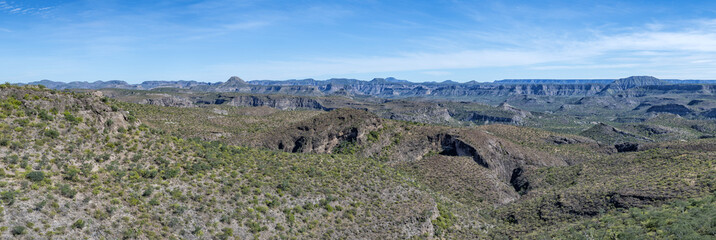 Baja California desert and montains landscape view