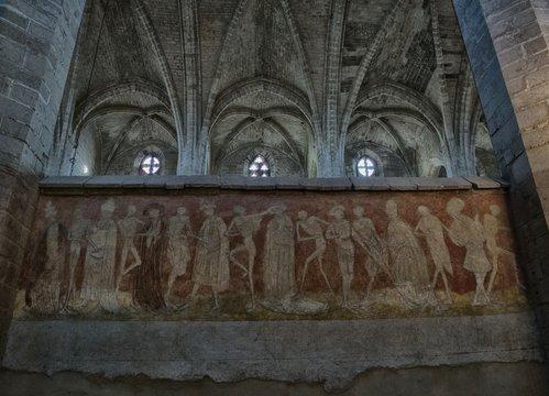 Danse macabre l'abbaye de La Chaise-Dieu, Haute-Loire, France