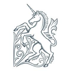 Image of the heraldic unicorn