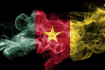 Cameroon national smoke flag